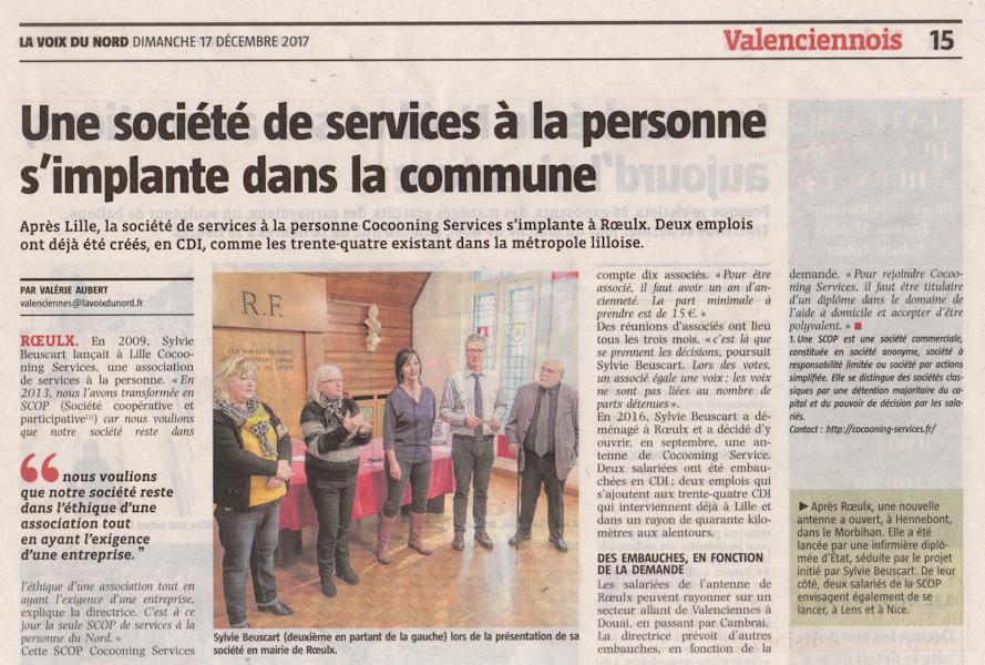 article La Voix du Nord 17 decembre 2017